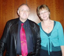 Bridget Clapham with Dr Richard Bandler